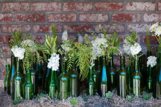Collection-of-Green-Glass-Bottles